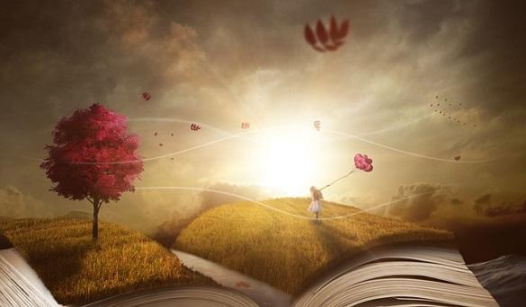 Нарисованное дерево и книга