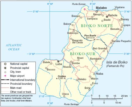 Карта Биоко